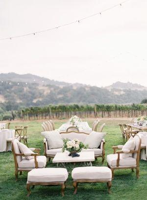 """Foto: Reprodução / <a href=""""http://www.elizabethannedesigns.com/blog/2013/03/11/elegant-vineyard-wedding/"""" target=""""_blank"""">Elizabeth Anne Designs</a>"""