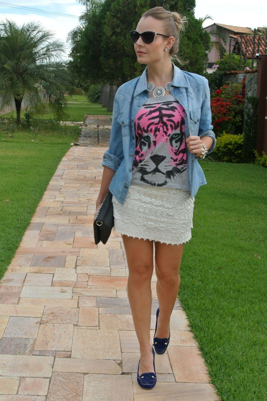 """Foto: Reprodução / <a href=""""http://www.laylamonteiro.com/look-do-dia-video-make/"""" target=""""blank_"""">Layla Monteiro</a>"""