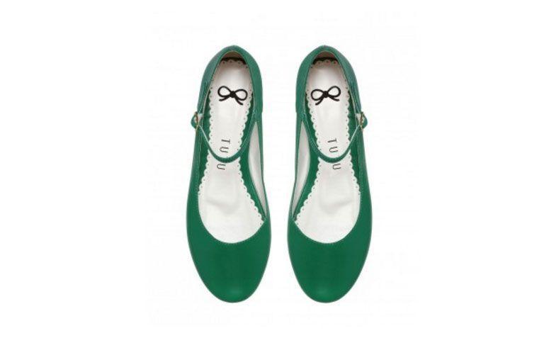 """Sapatilha Boneca couro verde por R$ 179,90 na <a href=""""http://comprar.tutusapatilhas.com.br/sapatilha-inspire-boneca-couro-verde.html  """" target=""""_blank"""">  Tutu Sapatilhas </a>"""