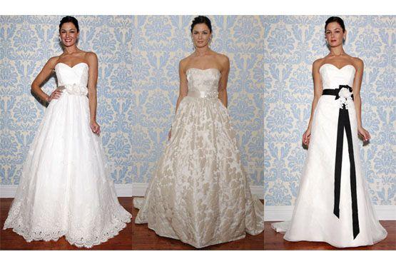 3 Tendências em vestidos de noiva do NY Bridal Week 2012
