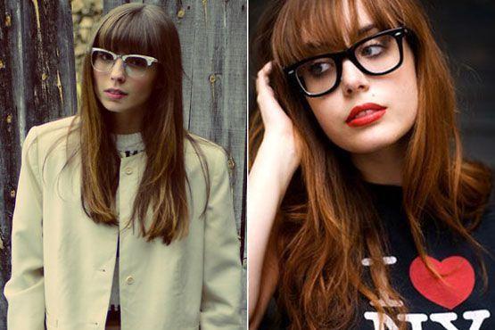 oculos cabelo franja1 O modelo de óculos ideal para quem tem franja