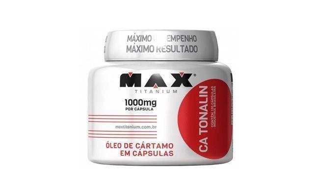 "Óleo de Cártamo CA Tonalin 120 Cáps Max Titanium por R$56,70 na <a href=""http://www.magazineluiza.com.br/emagrecedor-oleo-de-cartamo-ca-tonalin-120-caps-max-titanium/p/2035868/sa/saoc/"" target=""_blank"">Magazine Luiza</a>"
