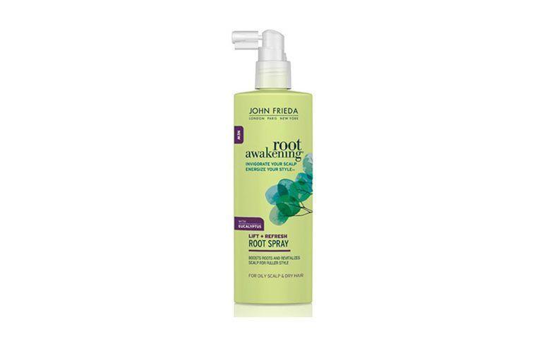 "Spray para cabelos John Frieda por R$56,80 na <a href=""http://www.onofre.com.br/spray-root-awakening-health-boosting-177ml-john-frieda/39056/05"" target=""blank_"">Onofre</a>"
