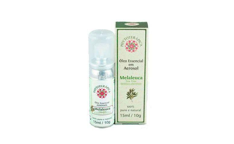"Óleo de melaleuca aerosol por R$44 na <a href=""http://www.belavidanatural.com.br/p/oleo-essencial-de-tea-tree-melaleuca-aerosol-15ml-phytoterapica/campanha_id/1"" target=""blank_"">Bela Vida Natural</a>"