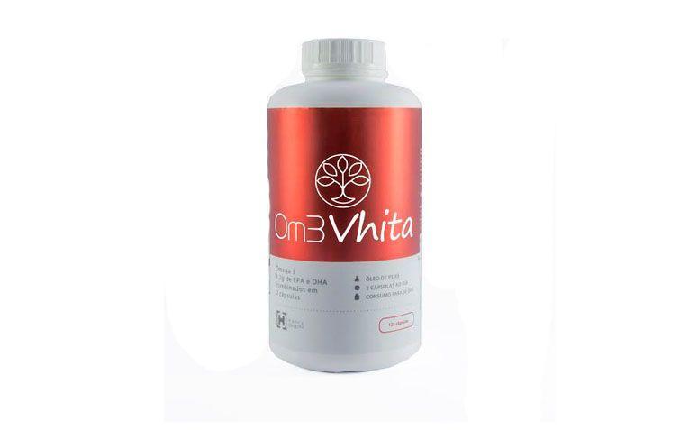 """Om3 Vhita 120 cápsulas por R$130 na <a href="""" http://www.projetovhita.com.br/omega-3-om3vhita"""" target=""""blank_"""">Projeto Vhita</a>"""