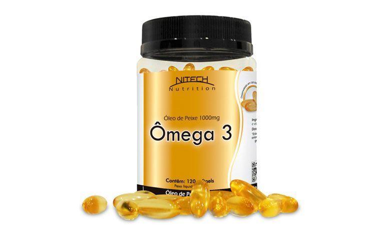 "Ômega-3 Nitech Nutrition por R$29,90 na <a href=""http://www.saudeja.net/omega-3-120-softgels-nitech-nutrition"" target=""blank_"">Saúde Já</a>"