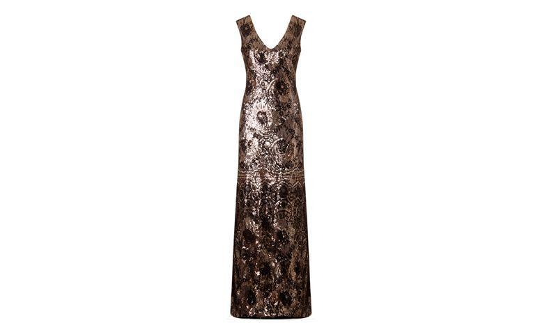 """Vestido sereia metalizado para black tie por R$839,20 na <a href=""""http://www.capitollium.com.br/produto/VESTIDO-LONGO-DE-FESTA-RENDA-E-PAETES-DIONE-144243"""" target=""""_blank"""">Capitollium</a>"""