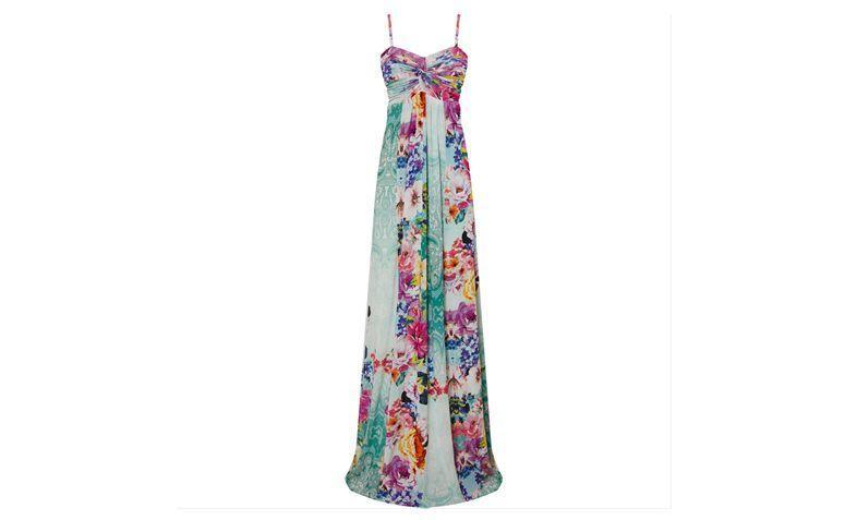 """Vestido longo floral em Jersey para esporte fino por R$219 na <a href=""""http://www.capitollium.com.br/produto/VESTIDO-LONGO-EM-JERSEY-FLORAL-E-BARRA-COM-RENDA--AZUL-CLARO-147921?atributo=158:AZUL%20CLARO"""" target=""""_blank"""">Capitollium</a>"""