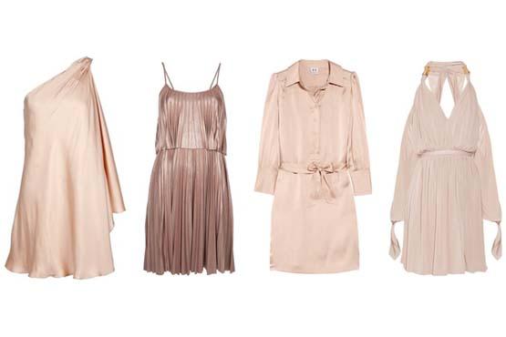 Sugestões de roupas com tons que combinam com ouro rosa