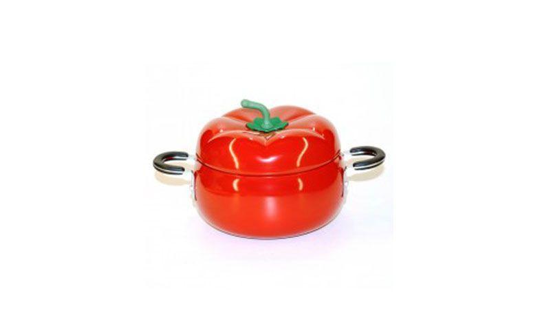 """Panela esmaltada tomate por R$99,00 na <a href=""""https://www.planetamimos.com.br/copacozinha/frigideiras/panela-esmaltada-tomate"""" target=""""blank_"""">Planeta Mimos</a>"""