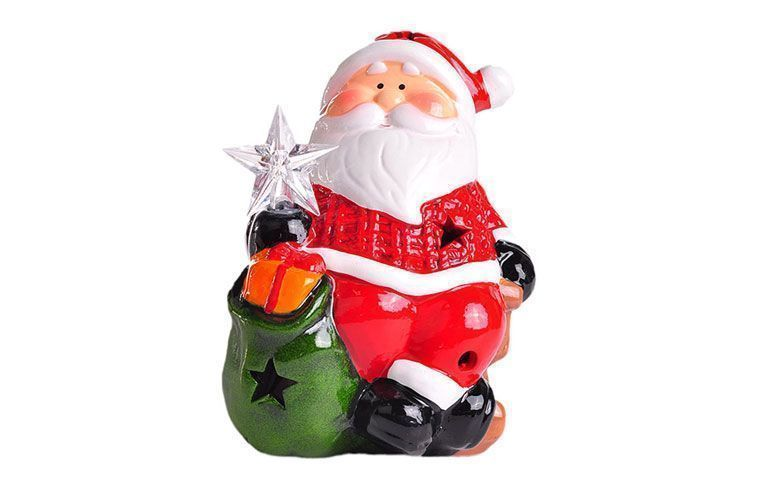 "Papai Noel decorativo por R$ 35,91 na <a href=""http://www.shoptime.com.br/produto/124230035/enfeite-decorativo-papai-noel-santini-christmas"" target=""_blank"">Shop time</a>"