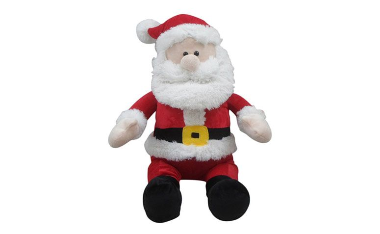 "Papai Noel Pelúcia por R$ 71,91 na <a href=""http://www.shoptime.com.br/produto/124147055/papai-noel-pelucia-40cm-orb-christmas"" target=""_blank"">Shop time</a>"