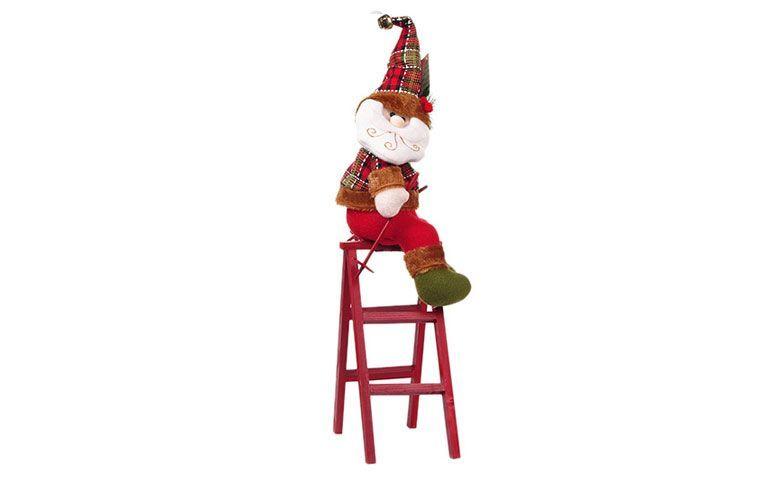 Santa Claus en las escaleras por R $ 134.91 en los EE.UU.