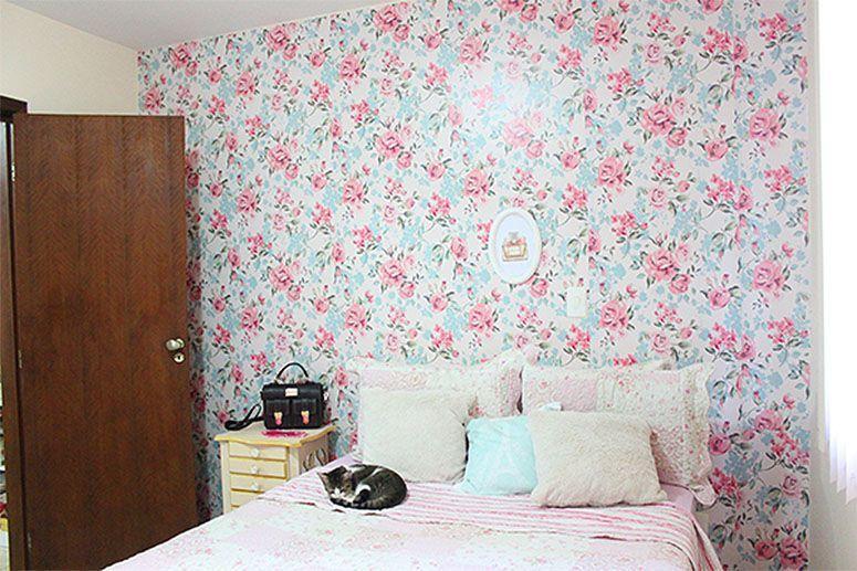 Papel de parede como escolher o ideal para sua decoração ~ Quarto Casal Com Papel De Parede Floral