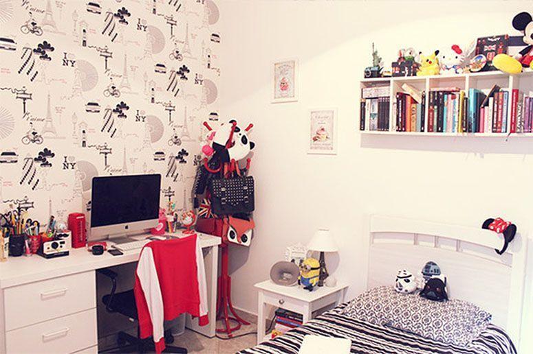 """Foto: Reprodução / <a href=""""http://www.naoprovoque.com.br/index.php/2013/12/decoracao-do-meu-quarto-room-tour/"""" target=""""_blank"""">Não Provoque</a>"""