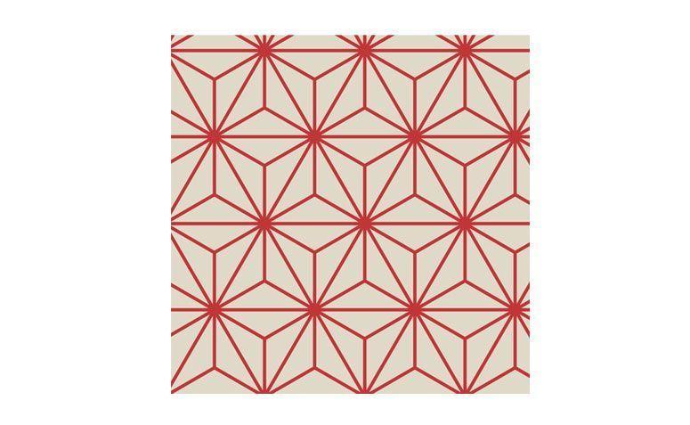 """Papel de parede adesivo geométrico vermelho (rolo) por R$ 159,00 na <a href=""""http://www.stickdecor.com.br/pd-1976a0-papel-de-parede-adesivo-geometrico.html"""" target=""""_blank""""> Stick decor </a>"""