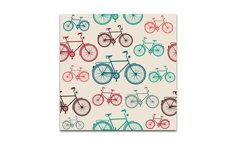 """Tecido de parede """"Bikes"""" (dimensão variável) a partir de R$ 37, 60 na <a href=""""http://www.panoteria.com.br/loja/baby_and_kids/bikes/"""" target=""""_blank"""">Panoteria</a>"""