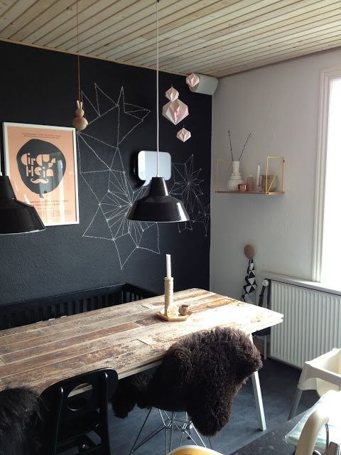 "Foto: Reprodução / <a href=""http://www.digsdigs.com/31-chalkboard-dining-room-decor-ideas-youll-love/"" target=""_blank"">Dig digs</a>"