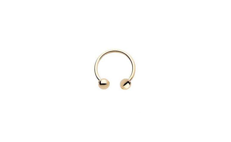 """Piercing ferradura folheado a ouro por R$16,10 na <a href=""""http://www.casualpiercing.com.br/folheado-a-ouro/piercing-ferradura/"""" target=""""blank_"""">Casual Piercing</a>"""