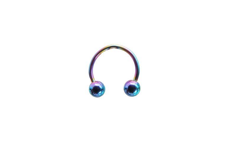 """Piercing ferradura de aço cirúrgico anodizado a partir de R$10,90 na <a href=""""http://www.gaiabodyart.com.br/Ferradura-Esferas-Aco-Cirurgico-e-Aco-Cirurgico-Anodizado"""" target=""""blank_"""">Gaia Body Art</a>"""