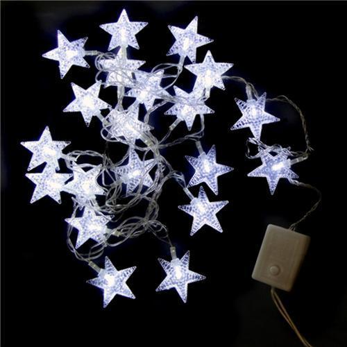 Parpadear estrellas con LED blanco, 20 lámparas, para R $ 25,90 en extra