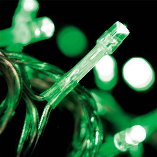 espinal brillante económica, 50 LEDs verdes para R $ 25,90 en extra