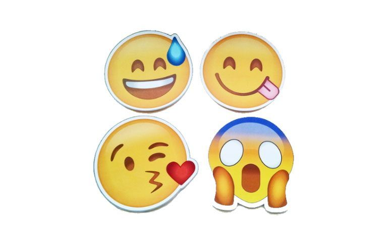 morsomme blodplater Emoji for R $ 1.45 i Elo7