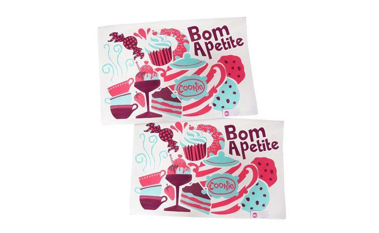 "Jogo americano Bom Apetite por R$49,90 na <a href=""http://www.doutordesign.com.br/jogo-americano-bom-apetite.html"" target=""blank_"">Doutor Design</a>"