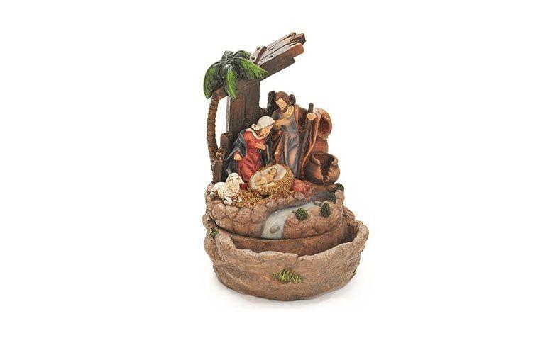 Natividad Sagrada Familia de fuente de resina para R $ 320,76, en Revista 25