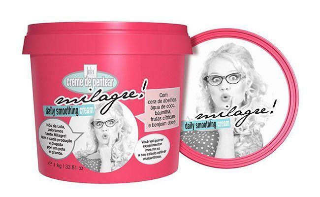"Creme de Pentear Lola Milagre 1Kg por R$ 56,50 na <a href=""http://www.casanostracosmeticos.com.br/creme-de-pentear-lola-milagre-1kg.html"" target=""_blank"">Casa Nostra Cosméticos</a>"