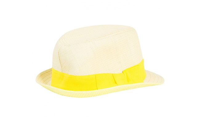 "Chapéu Panamá por R$30 na <a href=""http://www.fashfinds.com.br/index.php/acessorios/chapeus/chapeu-panama-fita-amarela.html"" target=""blank_"">Fashfinds</a>"