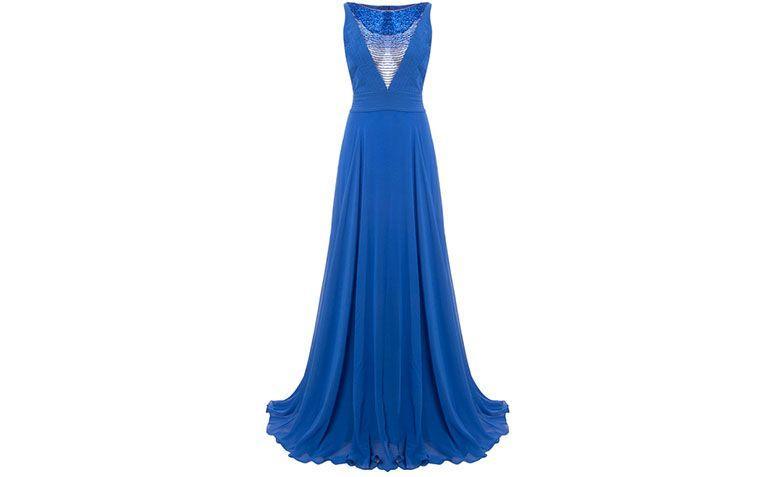 """Vestido de festa com decote profundo Alphorria por R$ 2.342,40 na <a href=""""http://www.capitollium.com.br/produto/alphorria-vestido-longo-decote-bordado-canutilhos-azul-royal-153120"""" target=""""blank_"""">Capitollium</a>"""