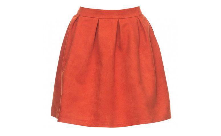 évasé jupe courte orange pour 89,90 $ à Amaro