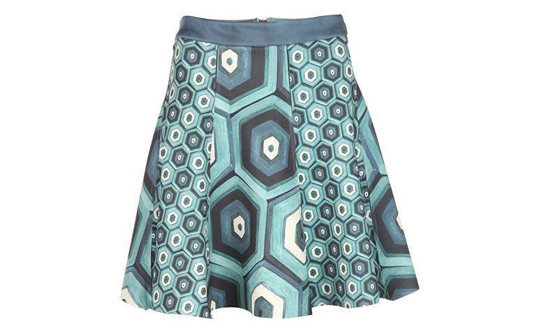 courte jupe évasée imprimée par R $ 590 sur E-closet