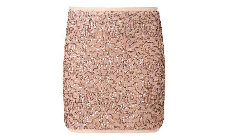 "Saia de paetê nude Moça Bonita por R$175,60 na <a href=""http://www.capitollium.com.br/produto/moca-bonita-saia-bordada-paetes-barra-bronze-151795"" target=""blank_"">Capitollium</a>"