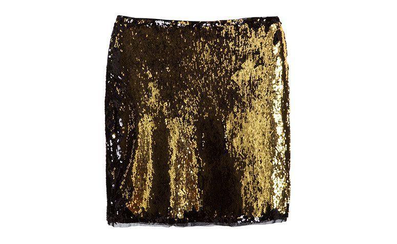 """Saia de paetê dourada Empório Anna por R$131,10 na <a href=""""http://www.gallerist.com.br/saia-senecio-9315.aspx/p"""" target=""""blank_"""">Gallerist</a>"""