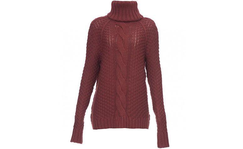 "Suéter de tricô vinho por R$158,90 na <a href=""http://ad.zanox.com/ppc/?29468978C73122742&ULP=[[https://amaro.com/p/sueter-treccia/vermelho?utm_source=zanox&utm_campaign=deeplink&utm_medium=cpa]]"" target=""blank_"">Amaro</a>"