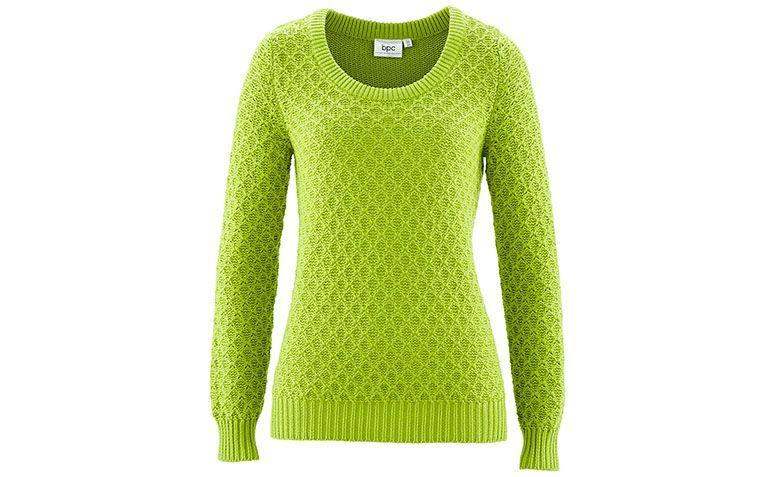 "Suéter verde por R$89,90 na <a href=""http://www.bonprix.com.br/produto/pulover-pistache-2045401/"" target=""blank_"">Bon Prix</a>"