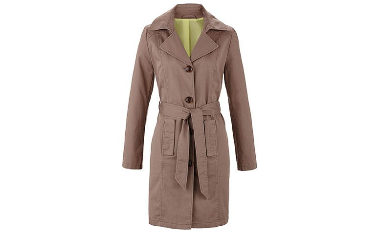 Beige trench coat for $ 119 at Bonprix