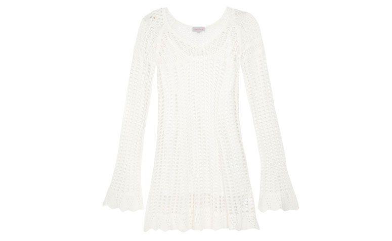 """Vestido Rosa Chá por R$259 na <a href=""""http://www.oqvestir.com.br/vestido-rosa-cha-trico---off-white-60093.aspx/p"""" target=""""blank_"""">Oqvestir</a>"""