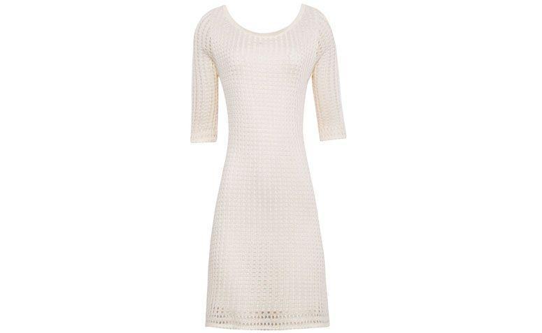 "Vestido Egrey por R$289 na <a href=""http://www.oqvestir.com.br/vestido-trico-firenze-off-white-49559.aspx/p"" target=""blank_"">Oqvestir</a>"