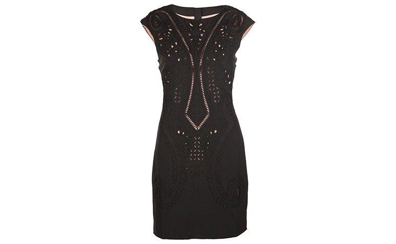 """Vestido preto tubinho com detalhe Aftercolor por R$648 na <a href=""""http://www.e-closet.com.br/vestido/vestido-alfaiataria-chic-preto-aftercolor-22664.html"""" target=""""blank_"""">E-closet</a>"""