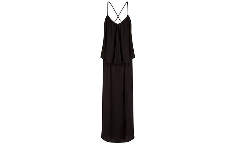 Mellina long black dress by R $ 214.95 in Farfetch