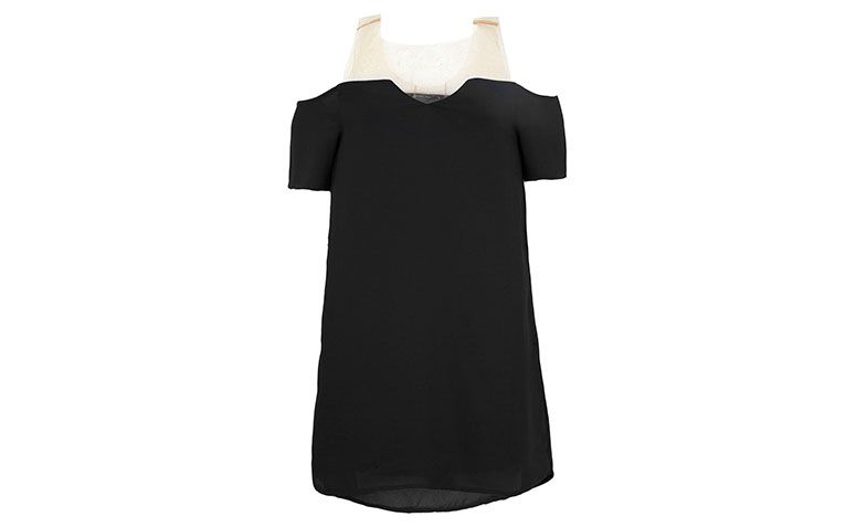 black dress with transparent sleeve for R $ 49.99 in Dafiti