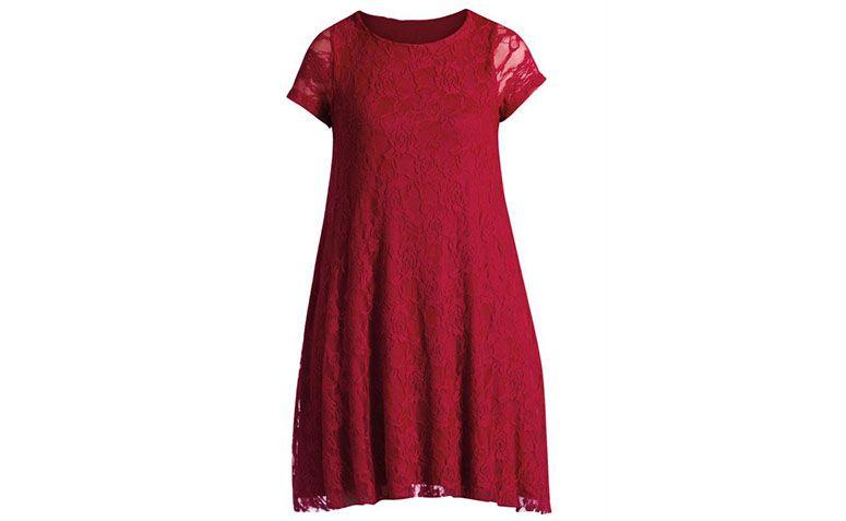 """Vestido de renda curto vinho Quintess por R$89,99 na <a href=""""http://ad.zanox.com/ppc/?27713758C43009238&ULP=[[http://www.posthaus.com.br/moda/vestido-evase-em-renda-vermelho_art180829.html?PAC_ID=125109]]"""" rel=""""nofollow"""" target=""""blank_"""">Posthaus</a>"""