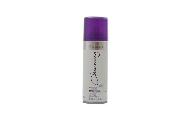 """Cless Spray Charming por R$18,90 na <a href=""""http://www.lojasrede.com.br/hair-spray-charming-normal-400ml-7324.aspx/p"""" target=""""_blank"""">Lojas Rede</a>"""