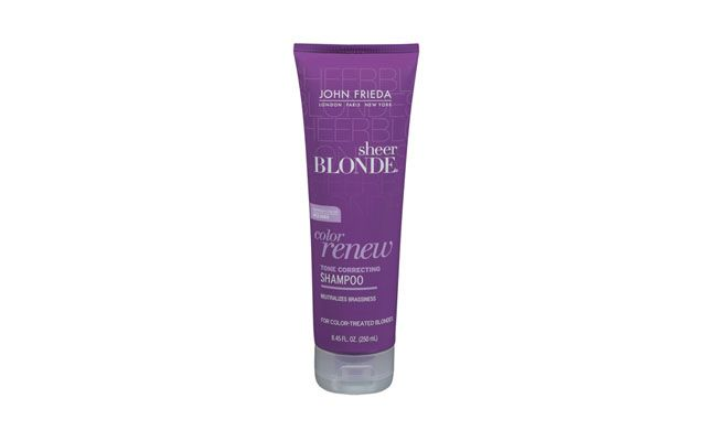 "Shampoo Sheer Blonde Color Renew Tone Correcting John Frieda por R$54 na <a href=""http://www.sephora.com.br/site/produto.asp?id=11937"" target=""blank_"">Sephora</a>"