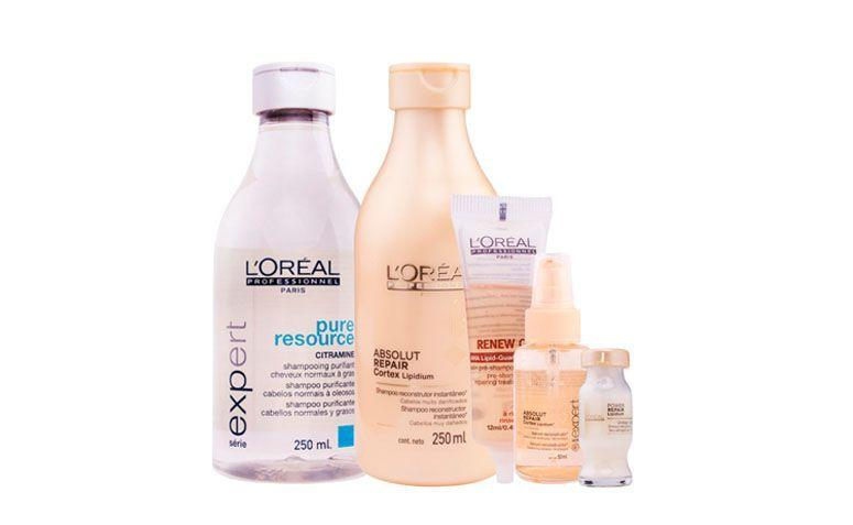 "Kit cauterização molecular Loreal por R$276,96 na <a href=""http://www.docebeleza.com.br/loreal-profissional/loreal-profissional-absolut-repair/loreal-profissional-absolut-repair-cauterizacao-molecular-kit-5-produtos/p1149-d567/ "" target=""blank_"">Doce Beleza</a>"