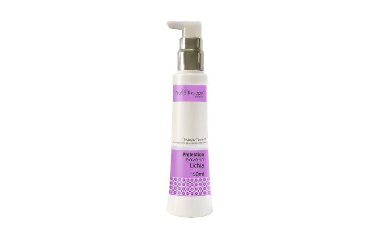 "Leave-in lichia por R$30,31 na <a href=""http://www.aora.com.br/leave-in-lichia-fruit-therapy-nano-left-cosmeticos-cabelos-quimicamente-tratados-160-ml"" target=""blank_"">Aora</a>"