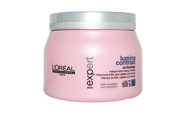 "Máscara de brilho L'oréal por R$169,90 na <a href=""http://www.emporiocharme.com/loreal-profissional-lumino-contrast-mascara-500ml/"" target=""blank_"">Empório Charme</a>"